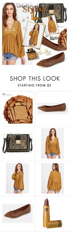 """""""SHEIN"""" by selmir ❤ liked on Polyvore featuring Urban Decay, WithChic, Lipstick Queen and Burberry"""