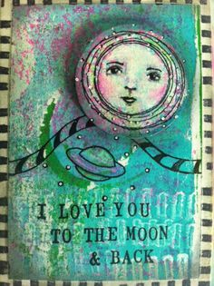 project using RubberMoon stamps by Kae Pea