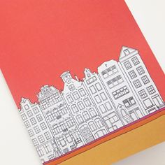 Amsterdam Notebook, Coral Red Journal, recycled journal, blank journal, A5 travel journal by PeonyandThistle on Etsy https://www.etsy.com/listing/213120034/amsterdam-notebook-coral-red-journal
