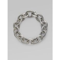 David Yurman   Sterling Silver Link Bracelet