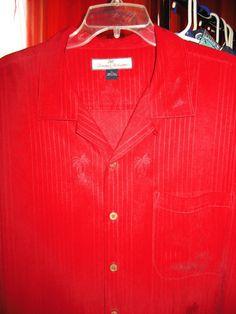 Amazing Vintage Hawaiian Shirt TOMMY BAHAMA Red by oldmagicchest