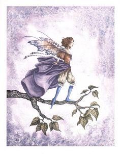 Fairy Art by Amy Brown Blue Socks Amy Brown Fairies, Elves And Fairies, Dark Fairies, Elfen Fantasy, Fantasy Art, Magical Creatures, Fantasy Creatures, Fairy Dust, Fairy Tales