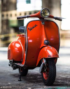 Vespa Typ N, 1960, im O-Lack, original condition, conservata. Over 70 more pictures here: https://ve8pa.ch/2015/07/23/vespa-acma-typ-n-1960-9535-km-o-lack-vs-o-saft-drink-and-drive-orange/