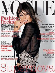 Elizabeth Hurley by Mario Testino Vogue UK November 2003