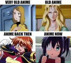 Anime through time