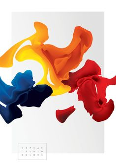 I speak fluid colors project. by  Maria Grønlund via Behance