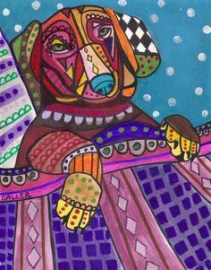 Dog Print  Dachshund Artist Heather Galler by HeatherGallerArt, $24.00