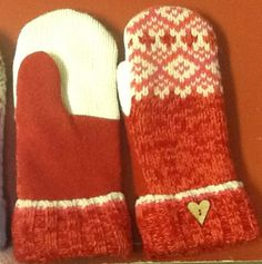 Upcycled Wool Sweater Mittens https://www.etsy.com/shop/TreasuredHeart?ref=si_shop