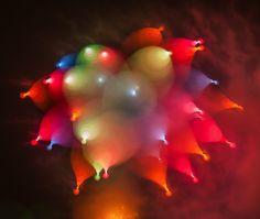 Des feux d'artifices captés en longue exposition