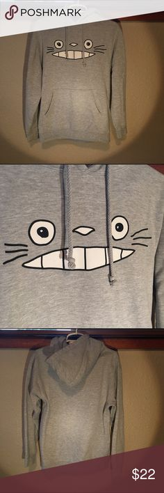 Grey Totoro Sweatshirt -No Brand -Girls, 80% Cotton 20% Polyester  -Size small -Grey Sweatshirt -In Perfect Condition  -No Flaws Ask if any questions! Hot Topic Tops Sweatshirts & Hoodies