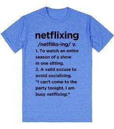 Gotcha! Just.....Netflixing.
