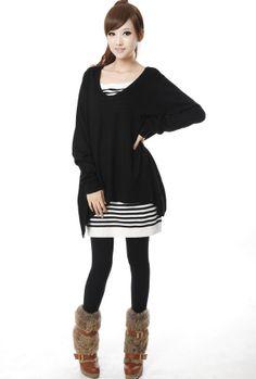 Explosion des modeles Hitz 2013 Femmes de la Version coréenne de la à manches longues en tricot Deux pièces jupe robe creux V-cou - Taobao