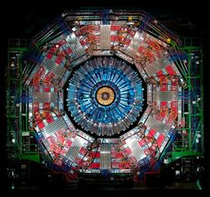 super sweet picture of the particle accelerator at CERN; hope they find the other 4 Higgs, maybe dark matter can finally be justified and explained then. Particle Collider, The Elegant Universe, Elementary Particle, Particle Accelerator, Large Hadron Collider, Higgs Boson, Quantum Mechanics, Mechanic Jobs, Space Time