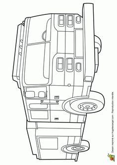 Coloriage d un dessin de chargeuse chenilles de chantier - Dessin d un camion de pompier ...