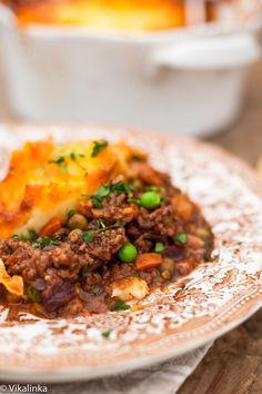 Shepherd's Pie meets Indian curry! #groundbeef #potatoes #shepherdspie #curry