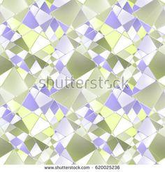 Seamless abstract geometric pattern, light background.