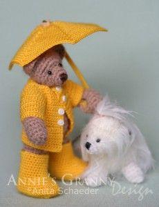 """Under the Weather"" threadbear by Annie's Granny Design"