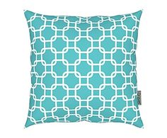 Coussin MA, turquoise - 43*43