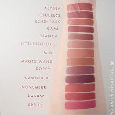 Colourpop Alyssa, clueless, echo park, cami, bianca, Littlestitious, midi, magic…