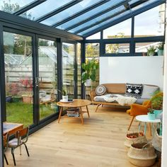 How to extend your home with style, for less than you might think. - Alice in Scandiland Lean To Conservatory, Conservatory Extension, Conservatory Kitchen, Conservatory Design, Orangery Extension Kitchen, Conservatory Interiors, House Extension Design, Extension Designs, Glass Extension