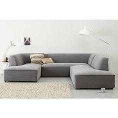 whkmp's OWN hoekbank links Town V , Grijs Modern Furniture, Furniture Design, Soft Seating, Sofa, Couch, House Made, Interior Inspiration, Interior Design, Home Decor