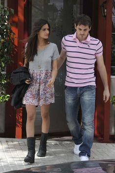 Iker Casillas - Iker Casillas and Sara Carbonero in Madrid, Spain