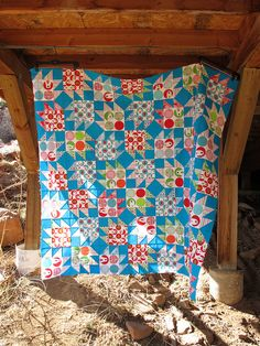 Wow. Brrr! Bear Paw quilt top from sewtakeahike. Beautiful!