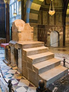 Charlemagne's Throne, Reign 768-814. In chapel that is the remaining part of his Palace of Aachen, now incorporated into Aachen Cathedral, Germany