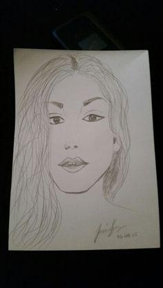 Teckning kvinna