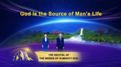 """Almighty God says, """"God created this world and brought man, a living being unto which He bestowed life, into it. In turn, man came to have parents and kin an. Material World, Living Water, Recital, Word Of God, Holy Spirit, Digital Illustration, The Voice, Sayings, Reading"""
