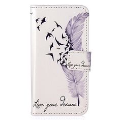 Feather+Pattern+Embossed+PU+Leather+Case+for+iPhone+5/iPhone+5S/iPhone+SE+–+AUD+$+10.00