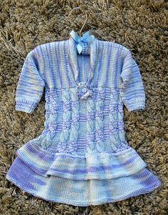Knitting Patterns Galore - Bamboo baby dress