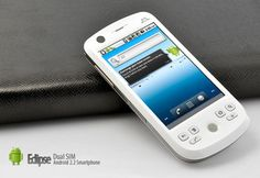 Eclipse - Dual SIM Android 2.2 Smartphone with 3.2 Inch Touchscreen (White)  $139.99