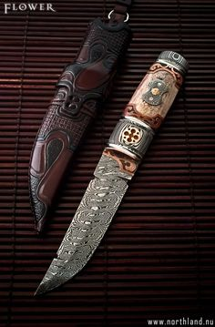Flower - André Andersson Custom Damascus Knives.