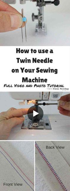 tuto vidéo comment utiliser l'aiguille double