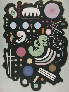 #kandinsky VARIEGATED BLACK, 1935 Watercolor and Indian ink on paper Munich, Germany. Lenbachhaus Gallery http://www.wassilykandinsky.net/work-541.php