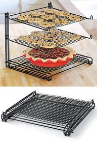 """3-Tier Mesh Nonstick Cooling Rack, Stacked Cookie Rack 
