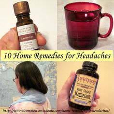 Best Home Remedies for Headaches - What causes headaches and migraines?  10 ways to cure headache pain naturally with items from your home a...