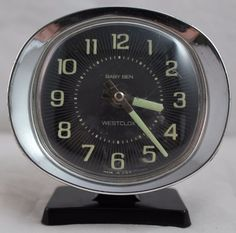 Vintage Westclox Baby Ben Travel Alarm Clock, Wind up, Working, Black & Silver Scratched and scuffed Travel Alarm Clock, Clocks For Sale, Selling On Ebay, Handmade, Stuff To Buy, Vintage, Etsy, Hand Made, Arm Work