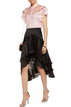 Shop on-sale Temperley London Elette embroidered mesh-trimmed silk-organza top . Browse other discount designer Tops & more on The Most Fashionable Fashion Outlet, THE OUTNET.COM