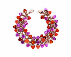 Mikado Flamenco Fire bracelet in 18k rose gold with 81.6 cts. t.w. mandarin garnet, 80 cts. t.w. pink tourmaline, and 28.8 cts. t.w. carnelian, $49,700/GB_13_032.jpg.jpeg