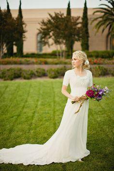 Logan, Soft Summer Breeze - Modest Wedding Gown #modest #wedding #dress #sleeves, Go To www.likegossip.com to get more Gossip News!