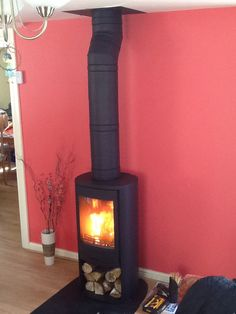 A Contura 810:1 stove in black by Hagley Stoves