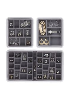 NEATNIX Jewelry Stax - Combo Pack - 36, 9 & 5 Compartment