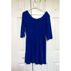 For Sale: Express Blue Skater Dress for $25