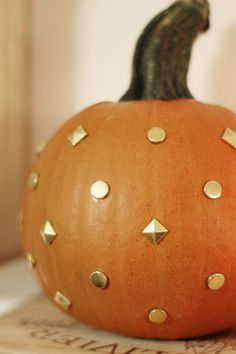 Gold Studded Pumpkin - Super easy and cute!