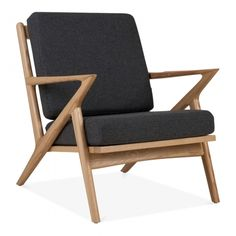 Natural Dane Lounge Chair Upholstered Seat | Modern Armchairs