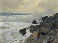 """Frederick Judd Waugh (1861-1940, United States) ~ """"Le Long de la Côte"""""""