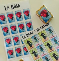 Mexican Loteria Sticker Sheet by WokeBrownGirl on Etsy https://www.etsy.com/uk/listing/502858061/mexican-loteria-sticker-sheet