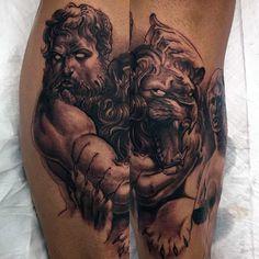 60 Greek Tattoos For Men Mythology And Ancient Gods Elegant tattoos for man and women God Tattoos, Celtic Tattoos, Body Art Tattoos, Tattoo Art, Tattoo Drawings, Tatoos, Art Drawings, Hercules Tattoo, Zeus Tattoo
